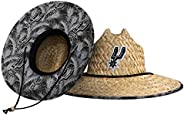 NBA Mens Team Logo Floral Straw Sun Hat