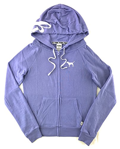 Victoria's Secret Pink Perfect Zip Hoodie Lustrous Lilac Small