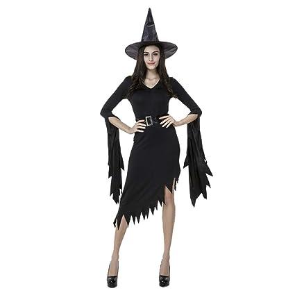 Aida Bz Halloween Traje Negro Irregular Bruja Traje Bruja ...