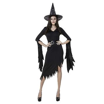 Aida Bz Halloween Traje Negro Irregular Bruja Traje Bruja Falda ...