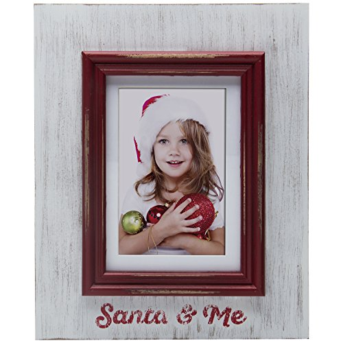 Fine Photo Gifts Santa & Me Wood Picture Frame (Christmas Picture Frames 5x7)