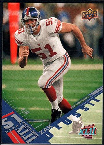(Football NFL 2008 Upper Deck Super Bowl XLII #36 Zak DeOssie NY Giants)