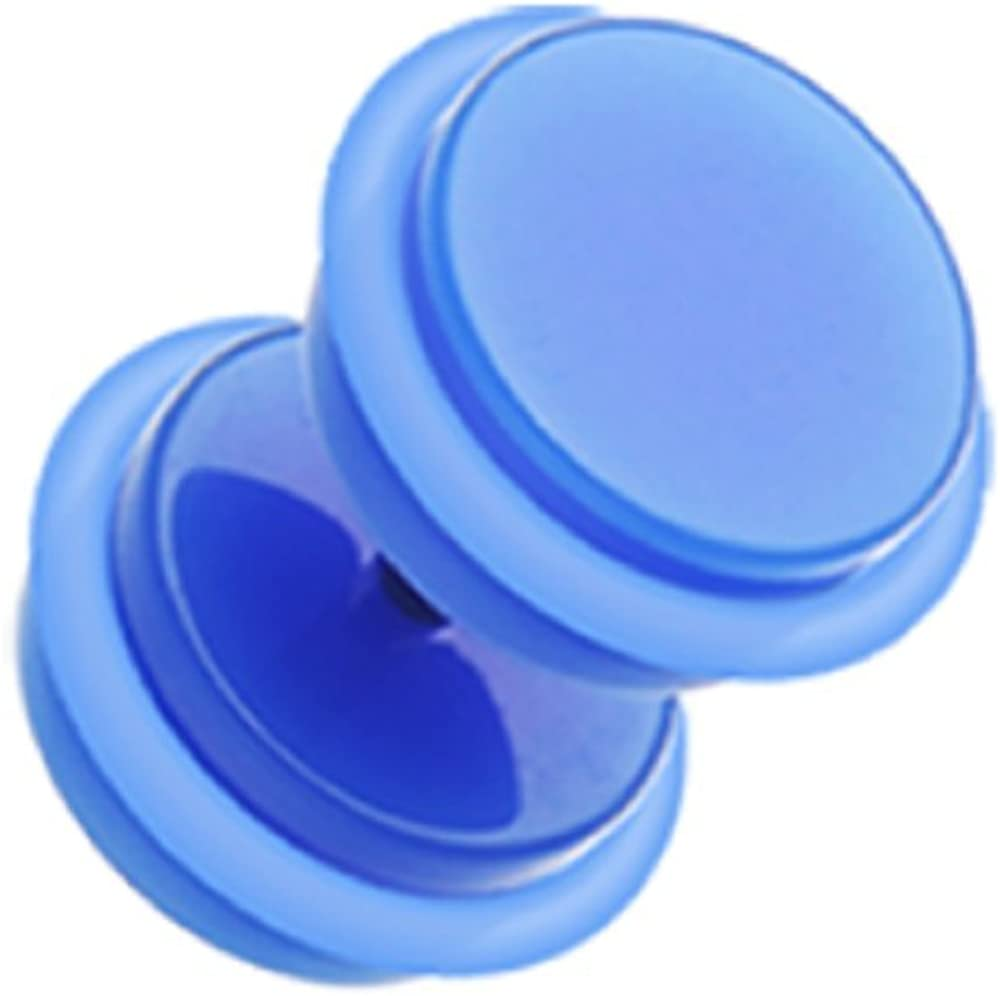 1.2mm 16 GA - Sold as a Pair Rose Blossom Acrylic Fake Plug