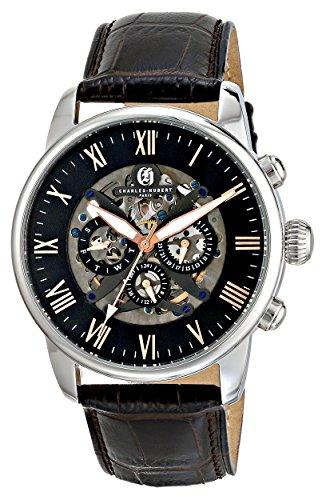 Charles-Hubert, Paris Men's 3964-W Premium Collection Analog Display Automatic Self Wind Brown Watch (Charles Collection Premium Hubert)