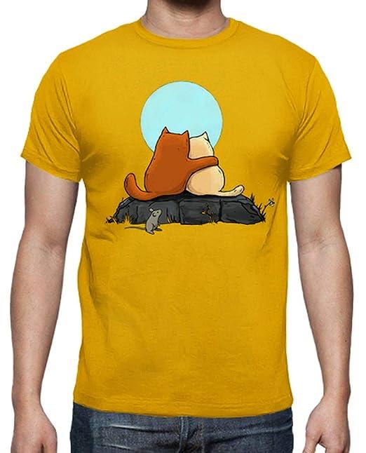 latostadora - Camiseta Dos Gatos para Hombre: crumblincookieart: Amazon.es: Ropa y accesorios