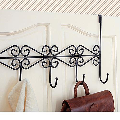 Wall of Dragon Iron Art Back Door Hanger Hook Bathroom Kitchen Hanger Hooks with 5-Hook Towel Hat Clothes Door Wall Hooks Rack