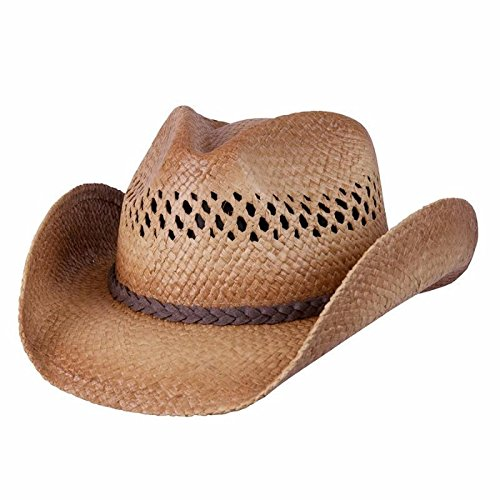 Conner Hats Western Caramel Raffia Shapeable Straw Hat F1069 (Western Straw Raffia)