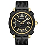 Bulova Men's Dress Style Precisionist Collection Black Dial Watch (Model: 98B303)