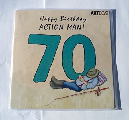 Art beat birthday card happy birthday action man 70 by angie art beat birthday card quothappy birthday action man bookmarktalkfo Image collections