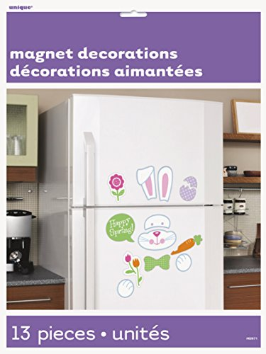 Easter Bunny Decoration Refrigerator Magnets, 13pc