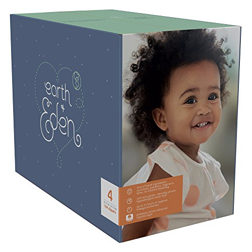 Earth + Eden Baby Diapers, Size 4, 164 Count