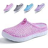 Garden Clogs Shoes Womens Mens Mesh Quick drying Beach Sandals Pink 39