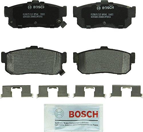 Bosch BP540 QuietCast Premium Semi-Metallic Disc Brake Pad Set For Infiniti: 1991-2001 G20, 1996-2001 I30; Nissan: 1993-2001 Altima, 1999-2001 Altra EV, 1991-2000 Maxima, 2000-2001 Sentra; Rear ()