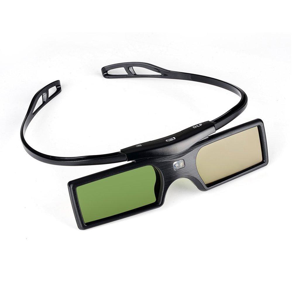 PIXNOR G15-DLP 144Hz DLP-LINK 3D Projector Active Shutter 3D Glasses - Detachable