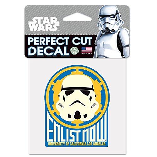 Wincraft UCLA Bruins Official NCAA 4 inch x 4 inch Star Wars Storm Trooper Die Cut Car Decal 155276