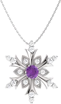 0.36 Carat Pendant with Chain Diamondere Natural and Certified Pear Cut Gemstone and Diamond Drop Petite Necklace in 14k White Gold