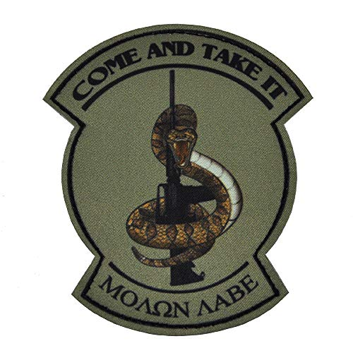 (KTW Come Take It Snake Printed Morale Patch OD Green)