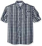 Columbia Men's Super Bonehead Classic Long Sleeve Shirt, Collegiate Navy Multi Gingham, Medium