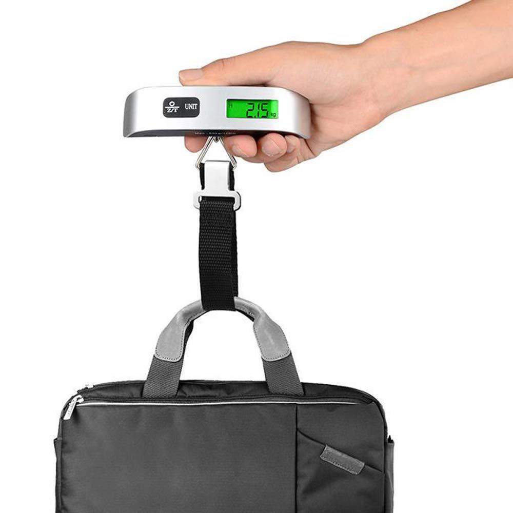 Ogquaton Balance de bagages LCD Num/érique /Écran de poche Balances Balance Portable avec fonction de tare Pratique pour Voyager Family Life 50g-50kg Haute Qualit/é