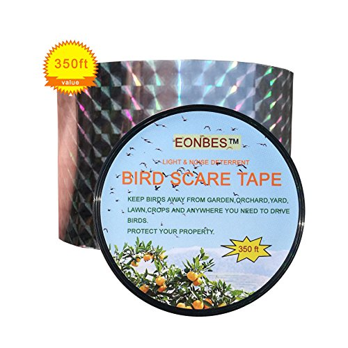 Bird Deterrent Ribbon Repellent Scare Reflective Tape, Ho...