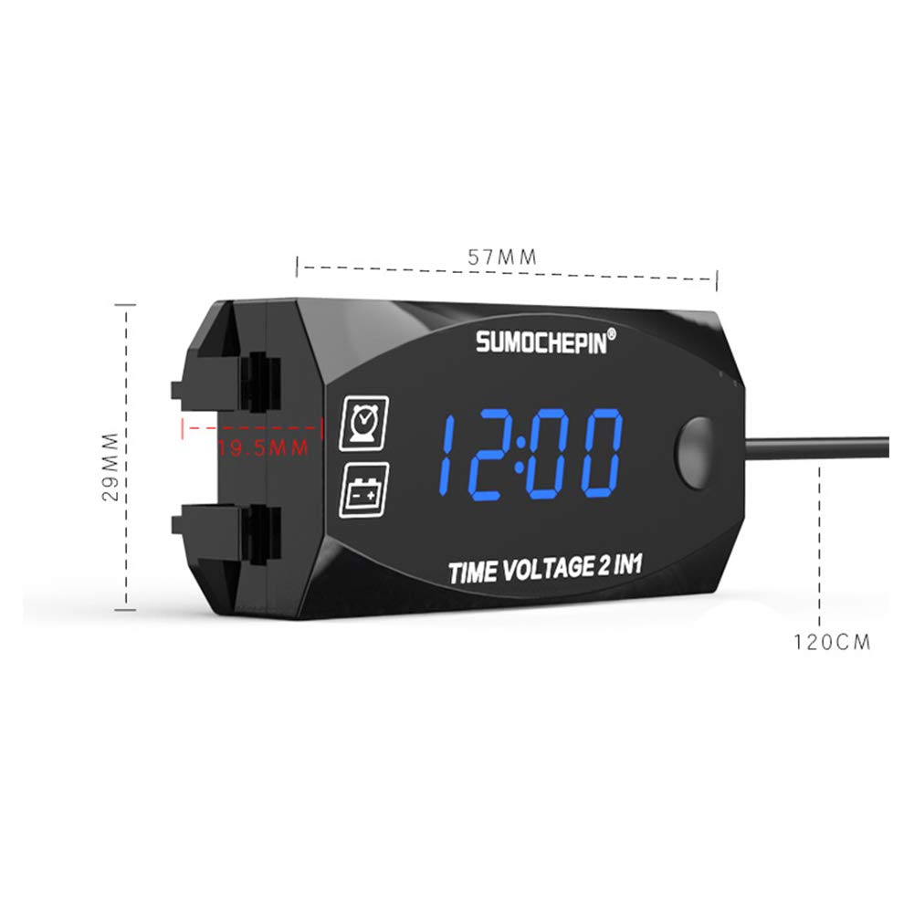 57 x 29mm Indoor Outdoor Voltmeter Multifunctional Electronic Clocks with Blacklight Function Car Interior Decor Dashboard Ornament Zchui 2 In 1 Car LCD Digital Clock