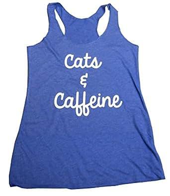 Amazon.com: Strong Girl Clothing Women's Cats & Caffeine ...