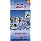 Skiregion Westerzgebirge /Vogtland: Wintersportkarte mit Loipen, Skiwanderwegen, Abfahrtshängen und Winterwanderwegen. 1:40 000