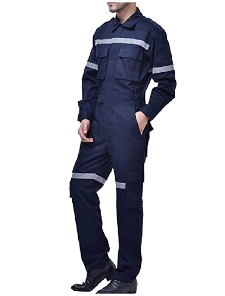 Wev Men Reflective Breathable Rugged Wear Uniforms Jumpsuits