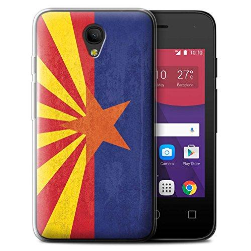 """STUFF4 Gel TPU Phone Case/Cover for Alcatel Pixi 4 3.5""""/Ariz"""