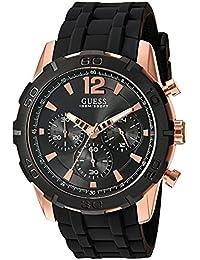 GUESS Men's U0864G2 Rose Gold/Black