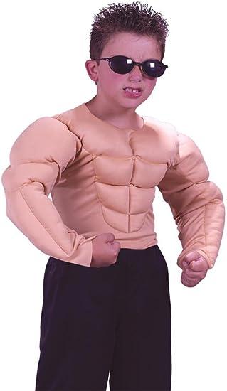 Amazon.com: Disfraz de niño de camisa con mú ...