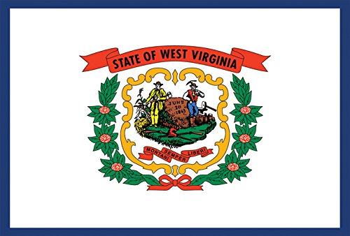 Toland Home Garden West Virginia State Flag 12.5 x 18 Inch Decorative USA Garden Flag