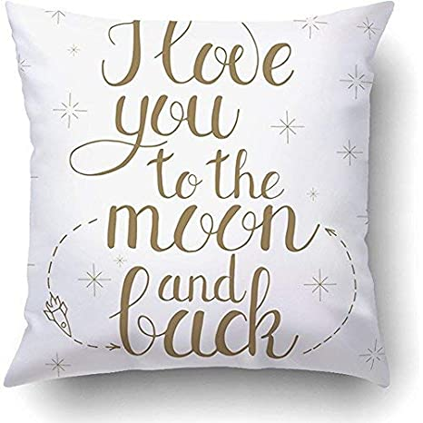 ymot101 Mum I Love You To The Moon and Back - Funda de cojín ...