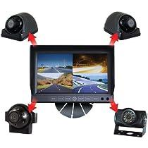 csp c-4500.quad.pk 4-camera rv system with 7 quad monitor