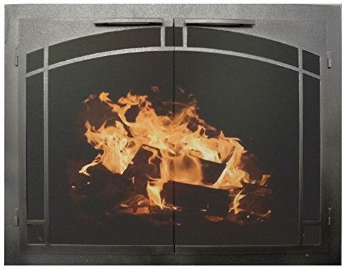 Arch Fireplace Doors - Ironhaus Fireplace Glass Door with Gate Mesh with 2 1/2
