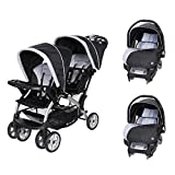 Baby Trend Sit N Stand Tandem Stroller + Car Seats (2) Travel System, Stormy