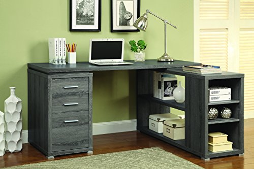 Coaster Yvette Weathered Grey Executive Desk -