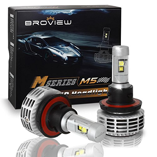 - BROVIEW M5 44W High Output 5 Colors LED Headlights - 6000LM H13 9008 Conversion Kit Bulbs - Cree Chip - PnP - Replaces Halogen/Xenon HID Headlights (2pcs/set)