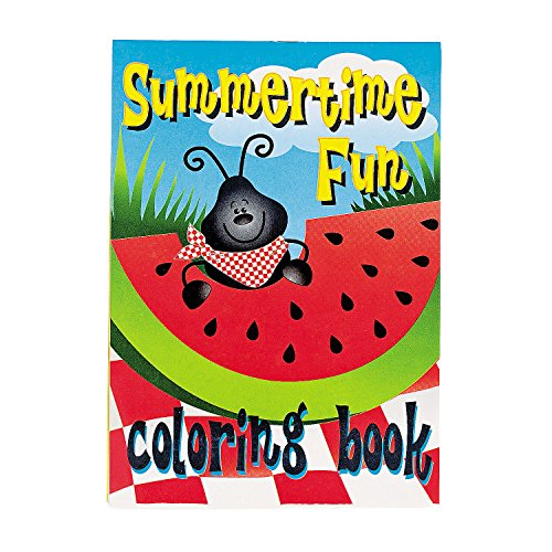 Fun Express Summer Tropical Coloring Books for Summer - Activity Books - 24 Pieces