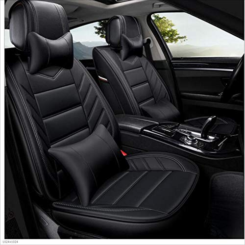 NUANXIN All-inclusive car seat Pad leather car general seat set car interior decoration accessories 5 seats,Black: Kitchen & Home