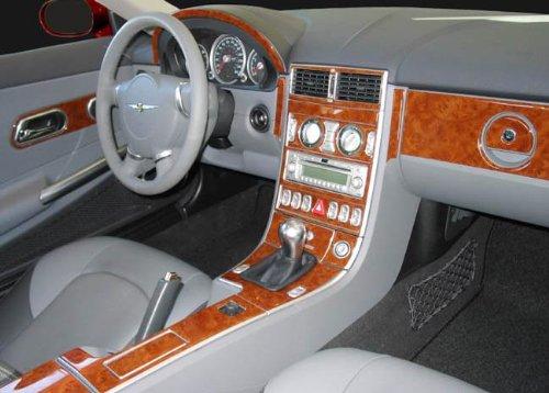 - Chrysler Crossfire Interior BURL Wood Dash Trim KIT Set 2004 2005 2006 2007 2008