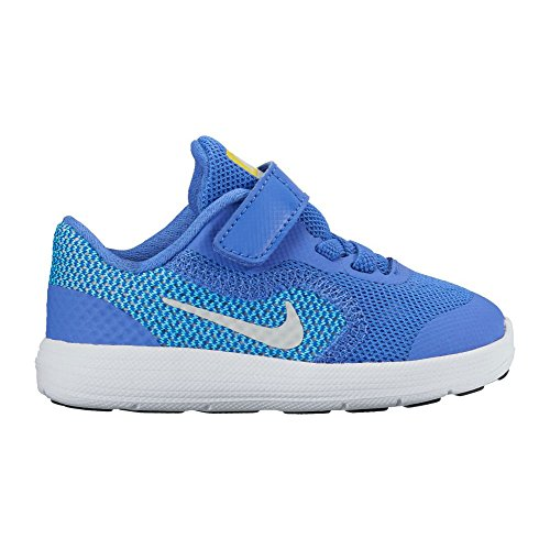 Nike Revolution 2 Tdv, Unisex Babies' First Walking Shoes Medium Blue/Pure Platinum