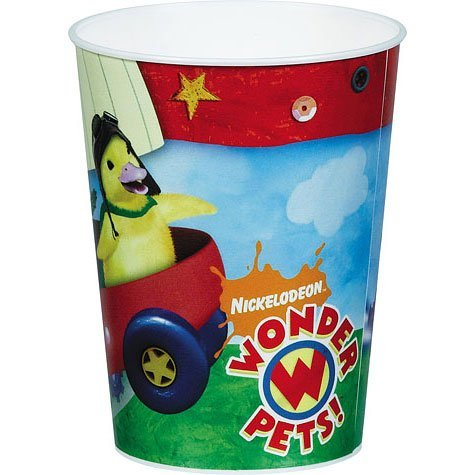 Wonder Pets Plastic Reusable 16 Ounce Cups (4-Pack)