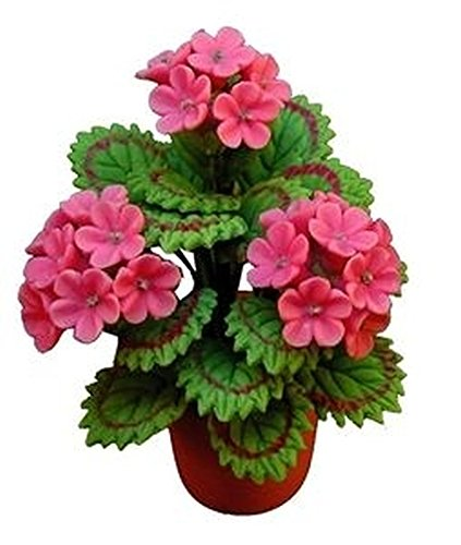 - Bright Delights Dollhouse Miniature Pink Geraniums in Terracotta Pot