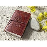 Mother Day Gifts Gifts Leather Diary Unlined Journal (6 x 4) Ganesha Design Planner with Handmade Papers