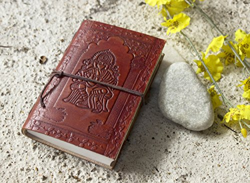 Amazon Lightning Deal 66% claimed: Mother Day Gifts Gifts Leather Diary Unlined Journal (6 x 4) Ganesha Design Planner with Handmade Papers
