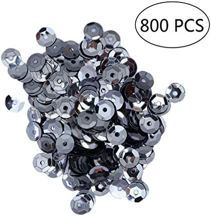Silver Healifty Crafts Sequins Loose Cup Sequins Shiny Spangles Glitter Sequins for Craft Clothing Bag Accessories 800pcs