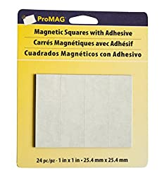 Magnum Magnetics-Corporation ProMAG Square Flexible Magnets with Adhesive, 1\