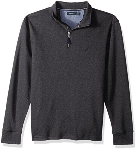 Nautica Men's Long Sleeve Half Zip Mock Neck Luxe Sweatshirt