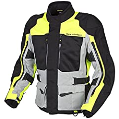 This is an amazingly versatile jacket. It is a windproof textile jacket for cool days, but fold down the inner windproof panels on the chest and back; open the full length arm vents and side torso vents, and you have maximum air flow on hot d...